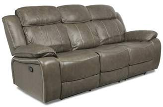 Red Barrel Studio Principato Dual Leather Reclining Sofa Red Barrel Studio