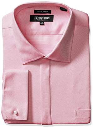 Stacy Adams Men's Big and Tall Textured Solid Dress Shirt