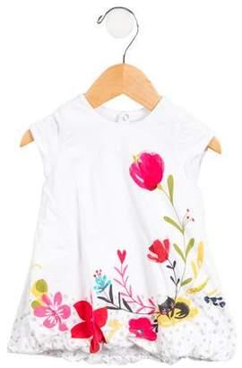 Catimini Girls' Floral Print Dress