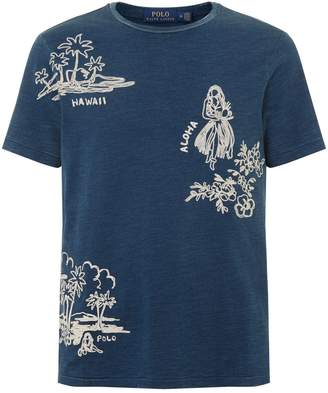 Polo Ralph Lauren Embroidered Hawaiian T-Shirt