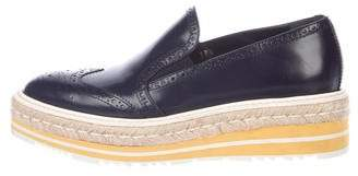Prada Patent Leather Platform Loafers