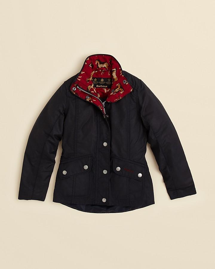 Barbour Girls' Ferndown Waxed Cotton Jacket - Sizes XXS-XXL