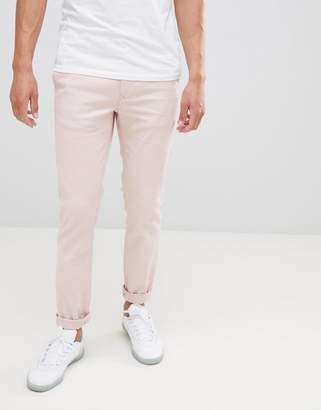 Burton Menswear Skinny Chinos In Pink