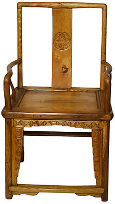 One Kings Lane Vintage Antique Chinese Chair with Medallion - FEA Home