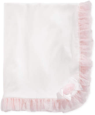 First Impressions Baby Girls Tulle-Trim Blanket, Created for Macy's