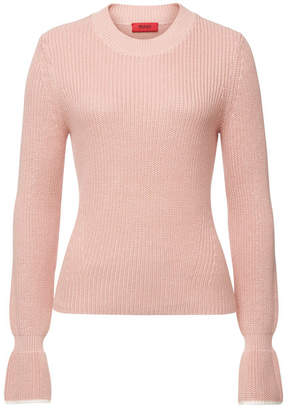 HUGO Sibina Knit Pullover with Cotton and Silk