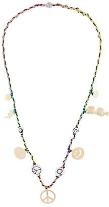Venessa Arizaga peace charm necklace