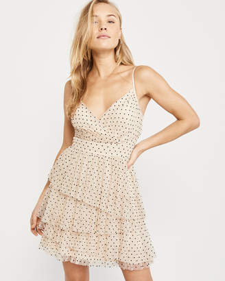 Abercrombie & Fitch Tiered Dot Dress