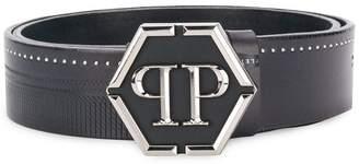 Philipp Plein logo buckle belt