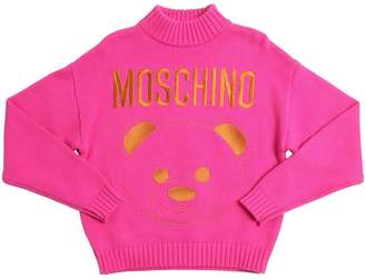 Moschino EMBROIDERED KNIT SWEATER