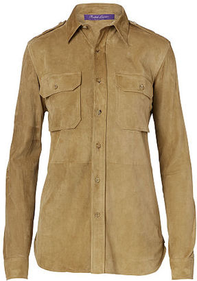 Ralph Lauren Suede Military Shirt $2,290 thestylecure.com