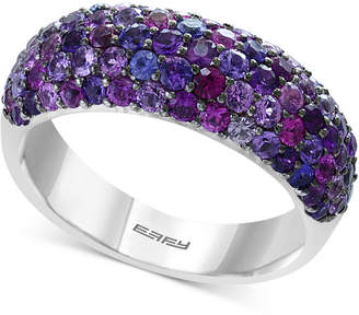 Effy Splash by Purple Sapphire Pave Ring (2-3/8 ct. t.w.) in Sterling Silver