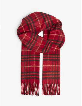 Burberry Vintage check cashmere scarf