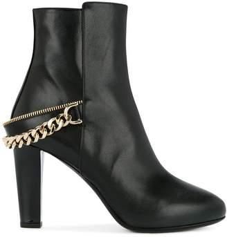 Lanvin chain detail ankle boots