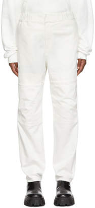 Ambush White Front Pocket Taped Jeans