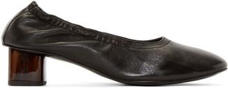 Robert Clergerie Black Leather Pocket Heels $495 thestylecure.com