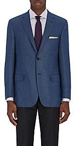 Brioni Men's Ravello Neat Wool Two-Button Sportcoat - Blue