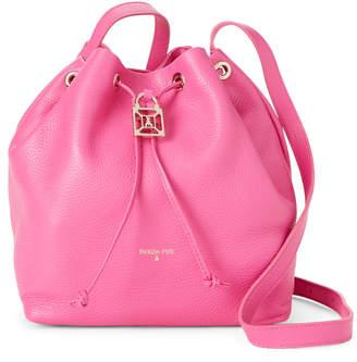 Patrizia Pepe Flower Pink Leather Bucket Crossbody