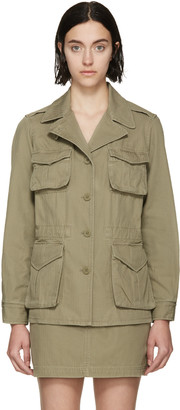 Marc by Marc Jacobs Safari Green Greenwhich Jacket $430 thestylecure.com