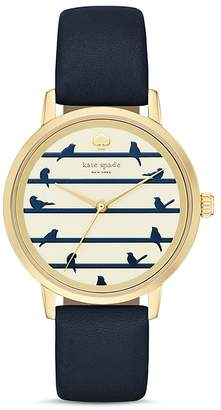 kate spade new york Round Navy Birds on a Wire Dial Metro Watch, 34mm $195 thestylecure.com