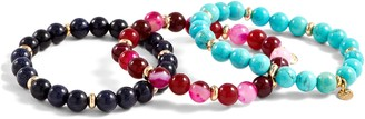Lola Rose Fabienne Set of 3 Beaded Stretch Bracelets