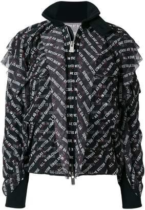 Sacai text print jacket