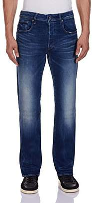 G Star G-Star Men's 3301 7060 Straight Jeans, Blue (Dark Aged), W29/L30