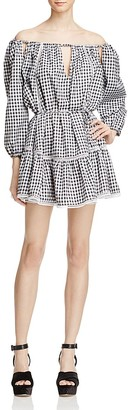 MLM Label Freda Off-the-Shoulder Gingham Dress - 100% Exclusive $265 thestylecure.com