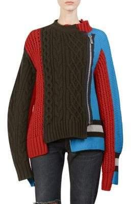 Sacai Wool Knit Blouson