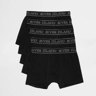 River Island Black RI branded trunks multipack