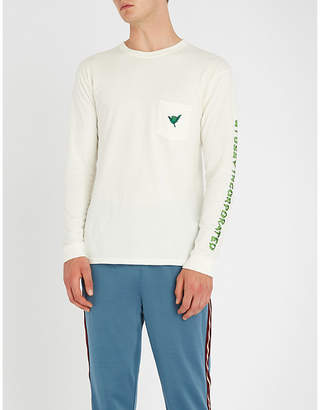 Stussy Embroidered cotton-jersey T-shirt