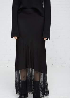 Ann Demeulemeester Lace Detail Silk Skirt