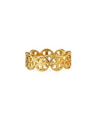 Tory Burch Frozen Logo Ring, Size 7