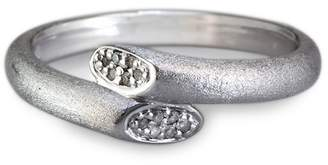 Effy Sterling Silver Diamond Bypass Ring - 0.13 ctw