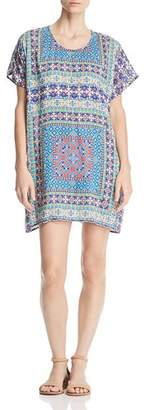 Tolani Tile-Print Tunic Dress