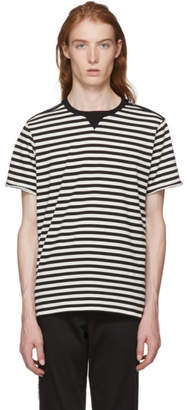 TAKAHIROMIYASHITA TheSoloist. Black and White Striped Crewneck T-Shirt