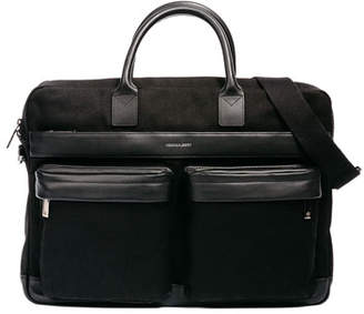 hook + ALBERT Canvas Casual Briefcase, Black