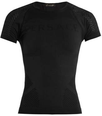 Versace Logo-jacquard performance top