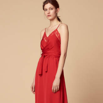 Sandro Floaty dress with thin straps and belt
