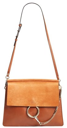Chloe 'Medium Faye' Leather & Suede Shoulder Bag - Brown $1,950 thestylecure.com