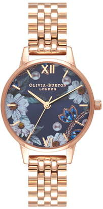 Olivia Burton Bejewelled Floral Bracelet Watch, 30mm