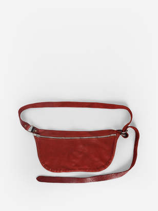 Guidi WOMAN'S RED LEATHER SHOULDER BAG