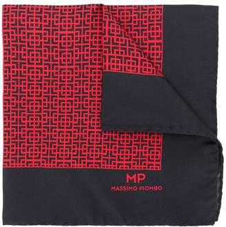 Piombo Mp Massimo geometric pattern pocket square