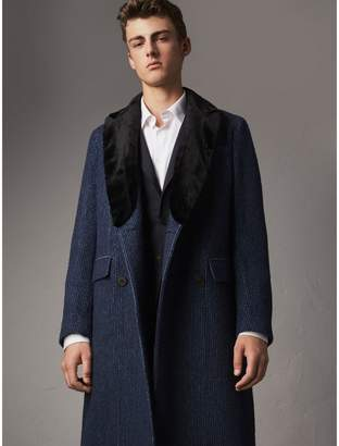 Burberry Detachable Fur Collar Alpaca Wool Double-breasted Coat