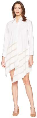 Jil Sander Navy Long Sleeves Cotton Dress Women's Dress