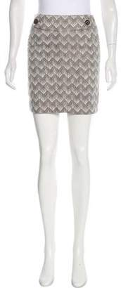 Tory Burch Woven Mini Skirt