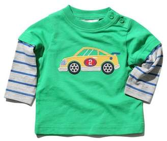 M&Co Car applique stripe sleeve t-shirt