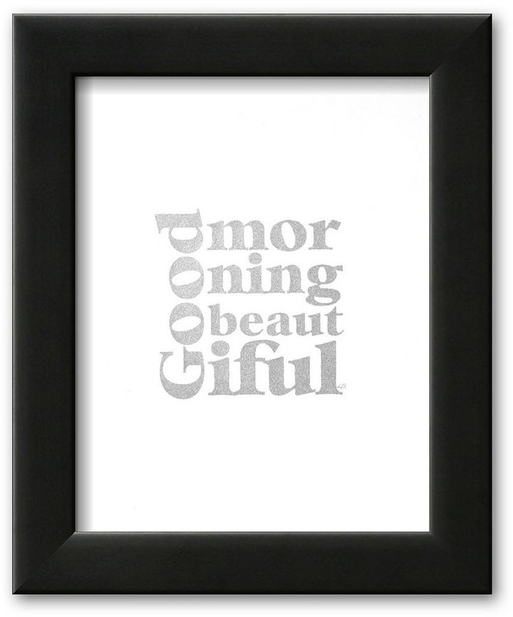 Art.com ''Good Morning Beautiful'' Framed Art Print by Kyle & Courtney Harmon