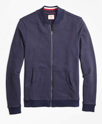 Brooks Brothers French Terry Baseball Jacket