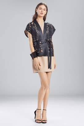 Natori Josie Faux Leather Short CutOut Vest